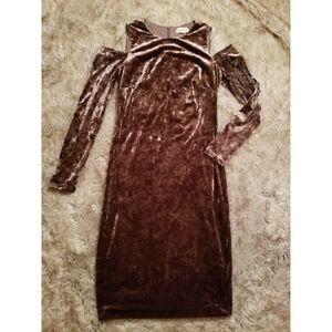 Calvin Klein Crushed Velour Dress